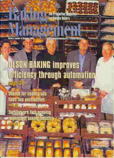 John Kirkpatrick on cover of Baking Mangement Magazine